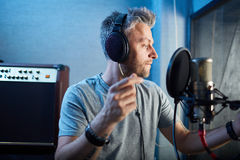 Song recording Royalty Free Stock Photography