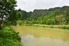 Song river at Vang Vieng Laos Royalty Free Stock Images