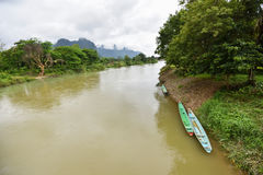 Song river at Vang Vieng Laos Stock Photos