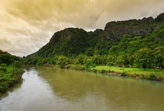 Song river at Vang Vieng Laos Stock Image