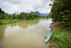 Song river at Vang Vieng Laos Stock Photography
