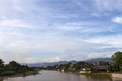 The Song river at Vang Vieng, Laos Royalty Free Stock Images