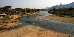 Song's river. Mountain nature village Laos Stock Photo