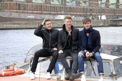 SONG SOLDIERS OF LOVE_LIGHTHOUSE X. COPENHAGEN / DENMARK_ 21 April 2016 _ Lighthouse X danosh pop group singers Soren Bewgendal (blue blazer)Johannes Nymark ( Stock Photography