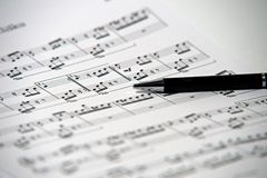 Song writen by Beethoven  - For Elis Royalty Free Stock Images