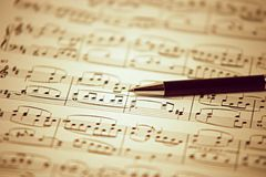 Song writen by Beethoven  - Ode to Joy Stock Photography