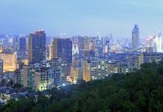 Songbai living community night sight. Urban landscape of siming district, xiamen city, china Royalty Free Stock Photos