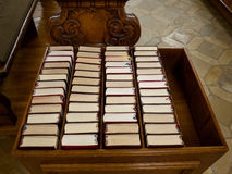 Songbooks στην εκκλησία Στοκ φωτογραφίες με δικαίωμα ελεύθερης χρήσης