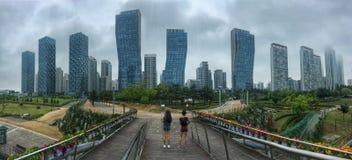 Songdo中央公园 免版税库存照片