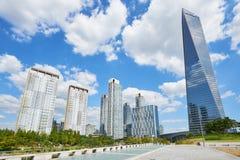 Songdo,韩国- 2015年9月07日:Songdo IBD 图库摄影