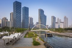 Songdo Central Park in Songdo District, Incheon South Korea. Songdo Central Park in Songdo District at Incheon South Korea royalty free stock images