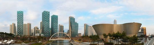 Songdo Central Park i Incheon, Sydkorea royaltyfria bilder