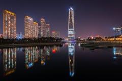 Songdo-Central Park, Incheon Südkorea Lizenzfreie Stockfotografie