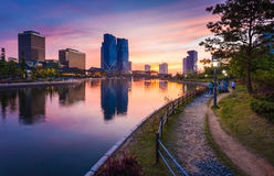 Songdo Central Park, incheon, south korea. Songdo,South Korea - May 17, 2015: Songdo Central Park in Songdo International Business District, Incheon South Korea Royalty Free Stock Image