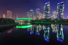 Songdo Central Park, incheon, south korea. Songdo,South Korea - May 17, 2015: Songdo Central Park in Songdo International Business District, Incheon South Korea Stock Image
