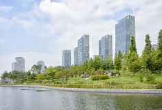Songdo Central Park. SongDo, KOREA - July 29, 2014: Songdo Central Park in Songdo International Business District of Korea Royalty Free Stock Photography
