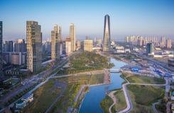 Songdo-Central Park in Songdo-Bezirk, Incheon Südkorea Lizenzfreies Stockfoto