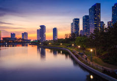 Songdo Central Park in Songdo District, Incheon. Songdo Central Park in Songdo International Business District, Incheon South Korea royalty free stock photos