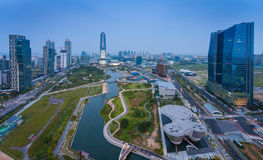 Songdo Central Park in Songdo  District. Royalty Free Stock Image