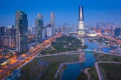Songdo Central Park in Songdo District Stock Photography