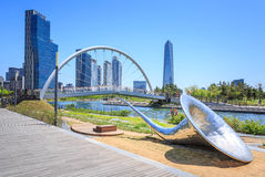 Songdo Central Park in Songdo District, Incheon. Songdo,South Korea - May 05, 2015: Songdo Central Park in Songdo District, Incheon South Korea Stock Images