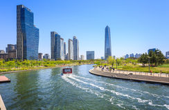 Songdo Central Park in Songdo District, Incheon. Songdo,South Korea - May 05, 2015: Songdo Central Park in Songdo District, Incheon South Korea royalty free stock photography