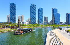 Songdo Central Park in Songdo District, Incheon. Songdo,South Korea - May 05, 2015: Songdo Central Park in Songdo District, Incheon South Korea Royalty Free Stock Photos