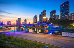 Songdo Central Park in Songdo District. Songdo,South Korea - May 17, 2015: Songdo Central Park in Songdo International Business District, Incheon South Korea Royalty Free Stock Photography