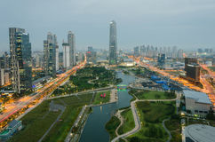 Songdo Central Park in Songdo International Business District. Stock Photo