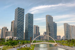 Songdo Central Park in Songdo International Business District. Incheon,Korea Royalty Free Stock Images