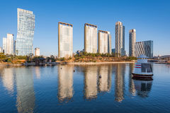 Songdo Central Park in Songdo International Business District , Royalty Free Stock Photo