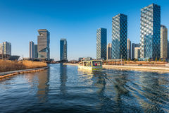 Songdo Central Park in Songdo International Business District , Royalty Free Stock Images