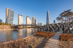Songdo Central Park in Songdo International Business District , Royalty Free Stock Image