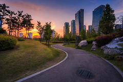 Songdo Central Park in Songdo. International Business District, Incheon South Korea Royalty Free Stock Image
