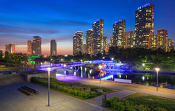 Songdo Central Park in Songdo International Business District Royalty Free Stock Images