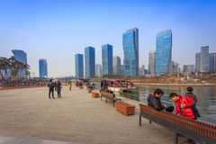 Songdo Central Park in Songdo International Business District. Songdo,South Korea - March 08, 2015: Songdo Central Park in Songdo International Business District Stock Photography