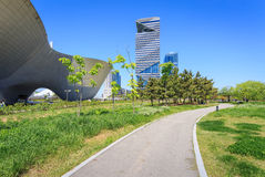 Songdo Central Park. Songdo,South Korea - May 05, 2015: Songdo Central Park in Songdo District, Incheon South Korea Royalty Free Stock Photos