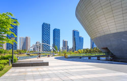 Songdo Central Park. Songdo,South Korea - May 05, 2015: Songdo Central Park in Songdo District, Incheon South Korea stock image