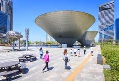 Songdo, Coreia do Sul - 5 de maio de 2015: construção da Tri bacia na central Imagem de Stock Royalty Free