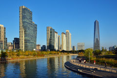Songdo International Business District in Korea Stock Photos