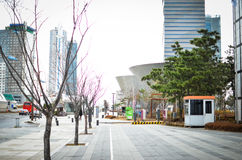 Songdo International Business District. New city in Korea royalty free stock images
