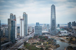 Songdo International Business District. New city in Korea stock photo