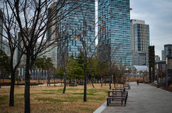Songdo International Business District. New city in Korea stock images