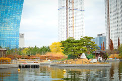 Songdo International Business District. New city in Korea stock photography