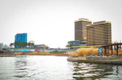 Songdo International Business District. New city in Korea Royalty Free Stock Photo