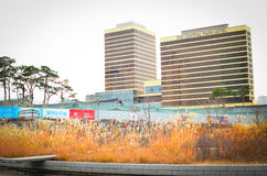 Songdo International Business District. New city in Korea Royalty Free Stock Image
