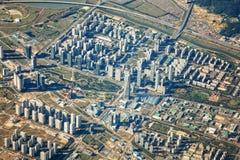 Songdo internationellt affärsområde från himlen Royaltyfria Foton
