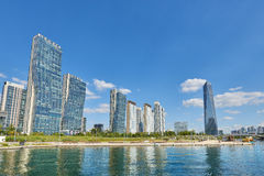 Songdo, Korea - September 07, 2015: Songdo IBD Stock Foto