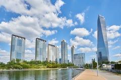 Songdo, Korea - September 07, 2015: Songdo IBD. Songdo, Korea - September 07, 2015: Songdo International Business District (Songdo IBD) is a new smart city built Stock Photo