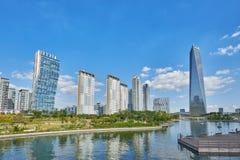 Songdo, Korea - September 07, 2015: Songdo IBD. Songdo, Korea - September 07, 2015: Songdo International Business District (Songdo IBD) is a new smart city built Royalty Free Stock Image